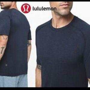 Lululemon Men Metal Vent SS Silverescent Navy XL